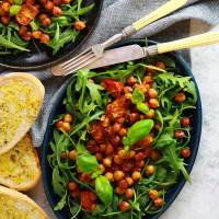 Harissa Roasted Chickpea & Tomato Salad