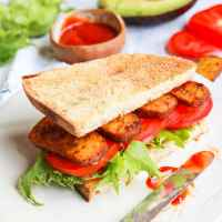 The Vegan BLT Sandwich a.ka the TLT (Tofu, Lettuce & Tomato)