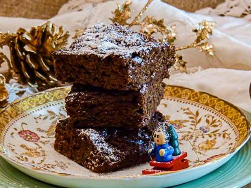 Spiced Chocolate Brownies on a plate.