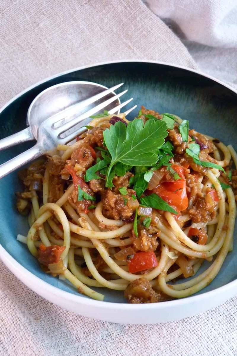 Gourmet Vegan Spaghetti Bolognese