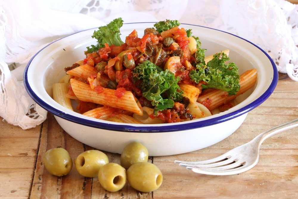 Vegan Puttanesca Pasta