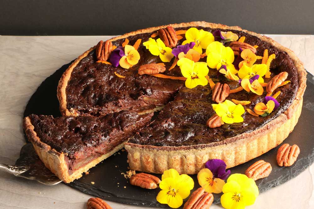 Vegan Chocolate Pecan Pie