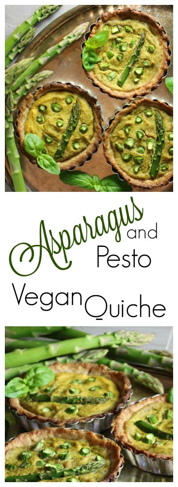 Vegan Asparagus and Pesto Quiche