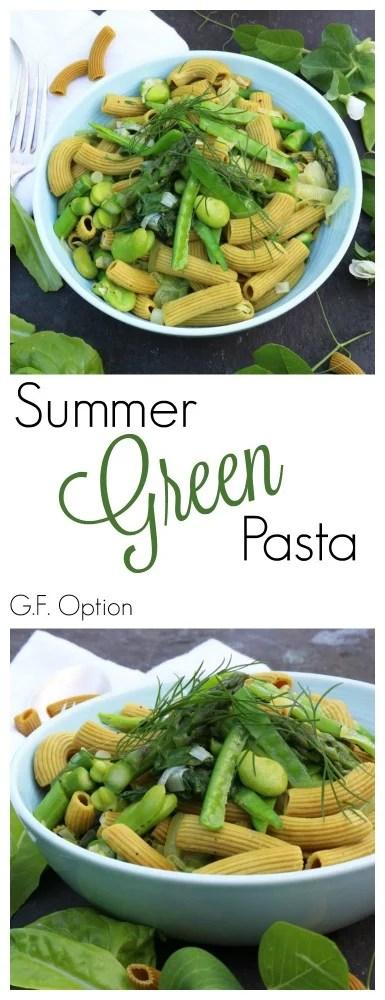 Summer Green Pasta Pinterest