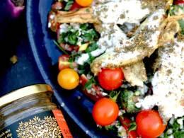 Aubergine Salad with Za'atar