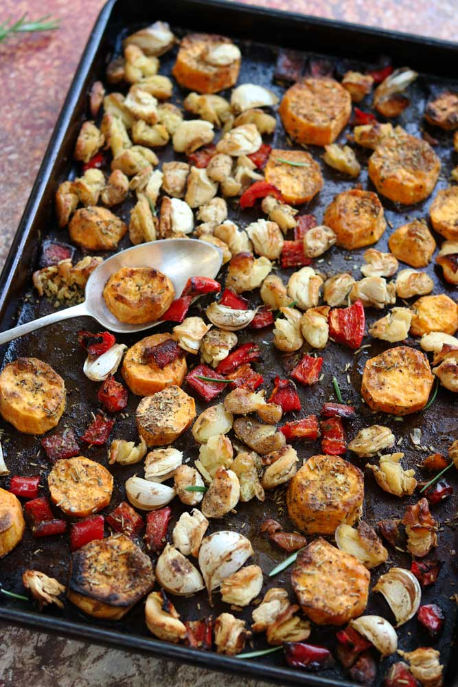 Roasty Roots Traybake with Spoon- large photo