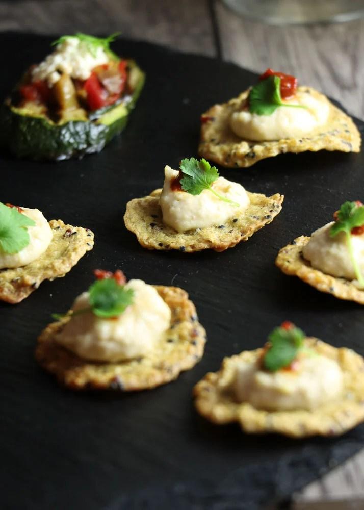Tricolore Crackers Canape