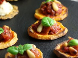 Sweet Potato Canapes