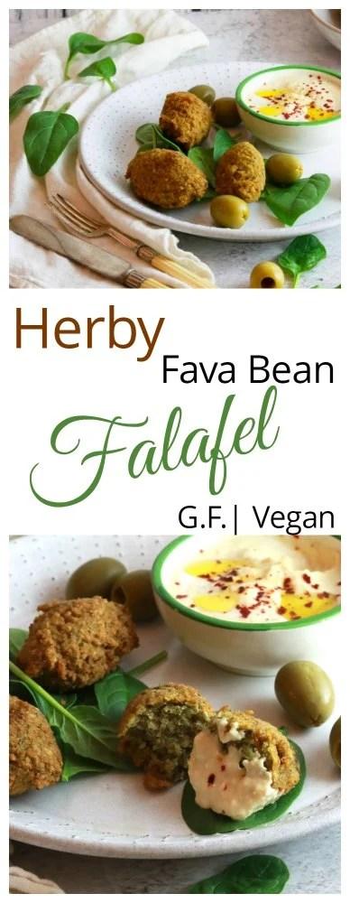 Herby Fava Falafel for Pinterest