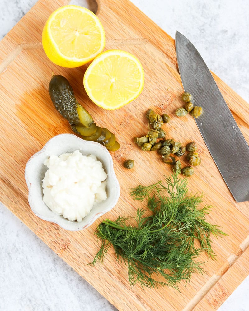 Ingredients for Vegan Tartare Sauce