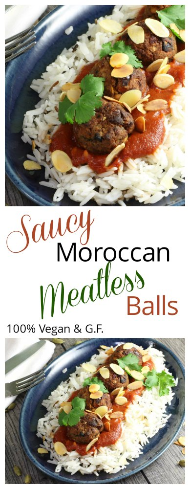 Moroccan Meatless Balls for Pinterest