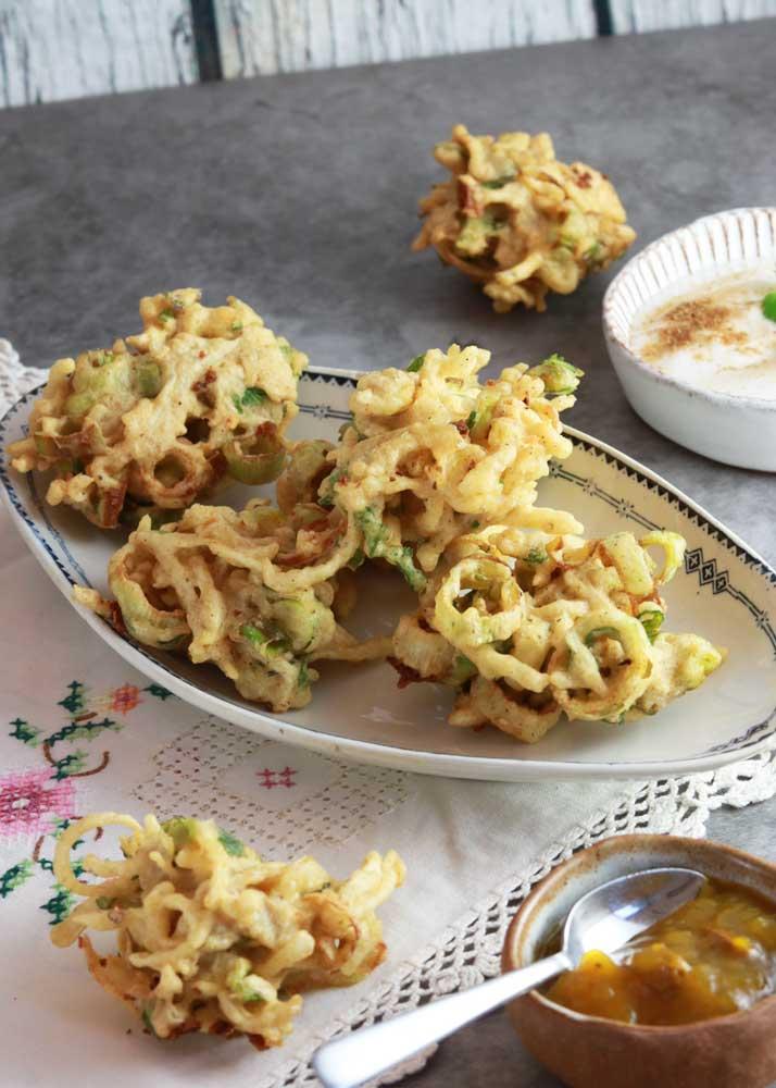 Pakora made with yellow pea flour