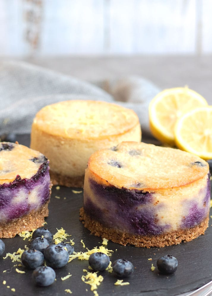 Blueberry and Lemon cheesecake up close