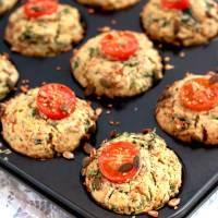 Easy Vegan Savoury Spinach Muffins