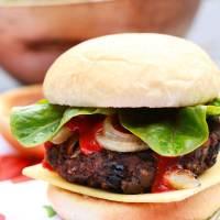 Ultimate Vegan Blackbean & Mushroom Seitan Burger