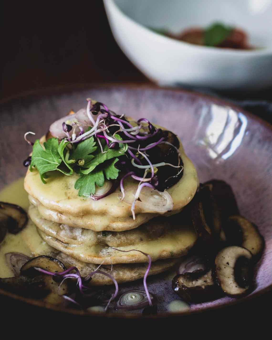 Herzhafte Pancakes