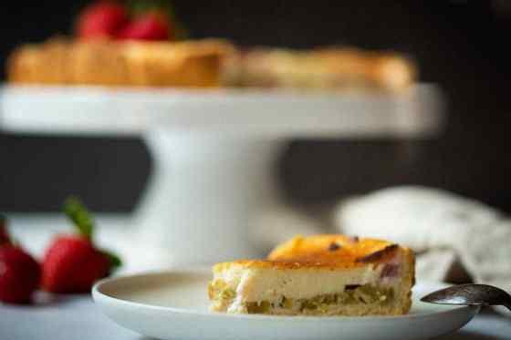 veganer Rhabarber Cheesecake veganer Käsekuchen vegane Torte
