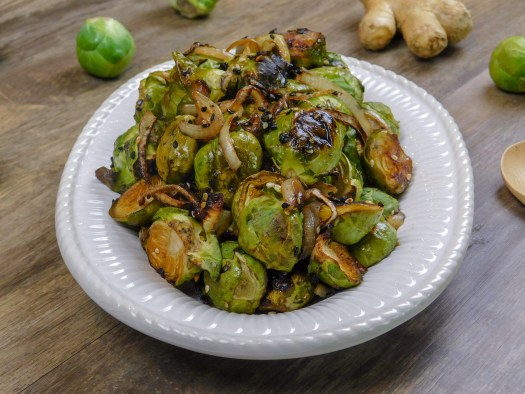 Asian Fusion Brussels Sprouts