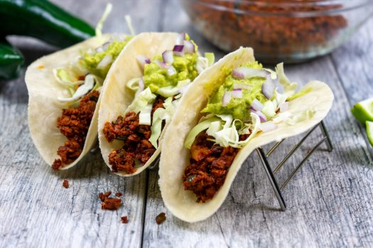 Chipotle Adobo Chorizo Tacos - The Vegan Rhino