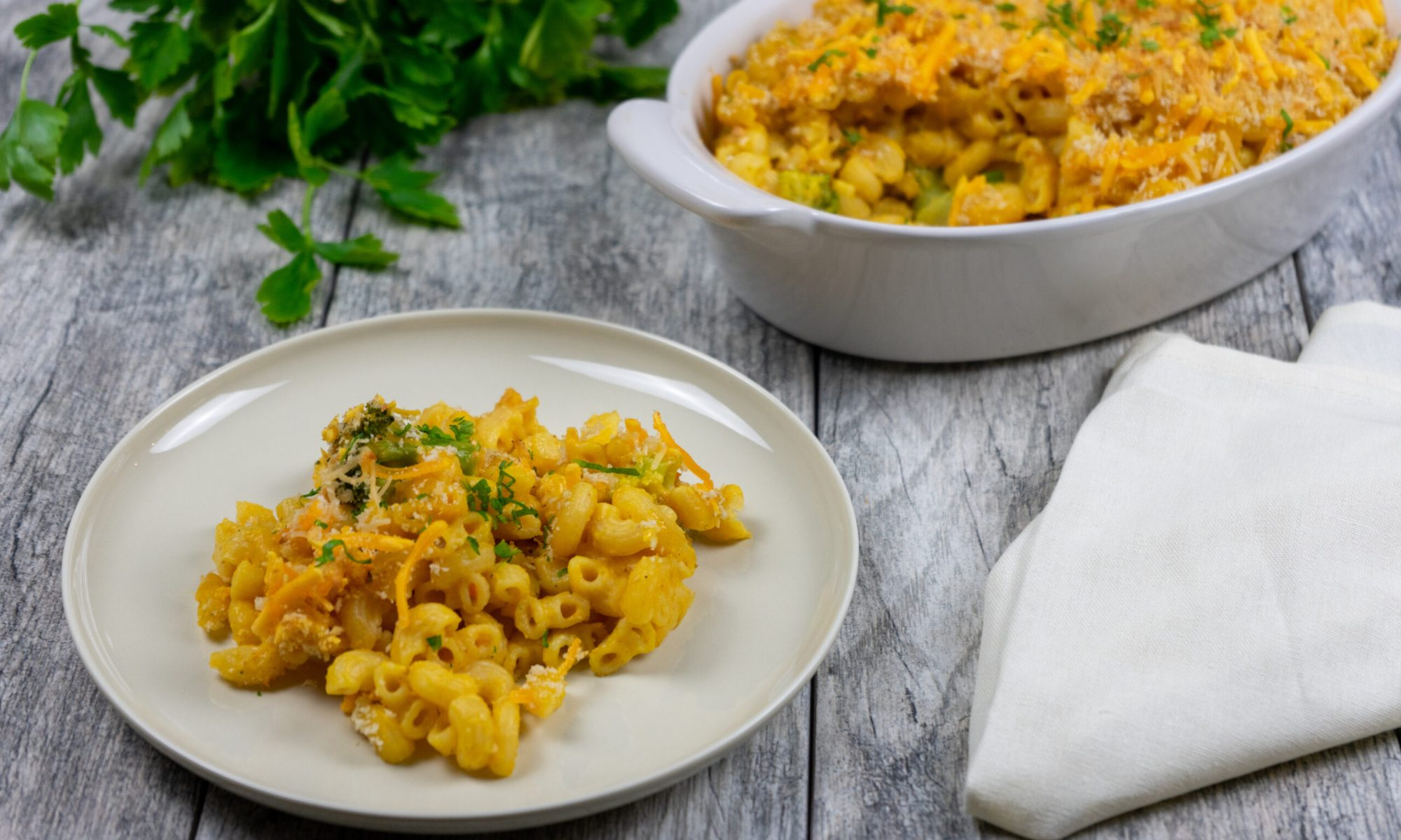 Simple Macaroni and Cheese Casserole - The Vegan Rhino