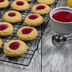Raspberry Jam Thumbprint Cookies - The Vegan Rhino