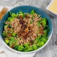 Crispy Shallot Farro Salad