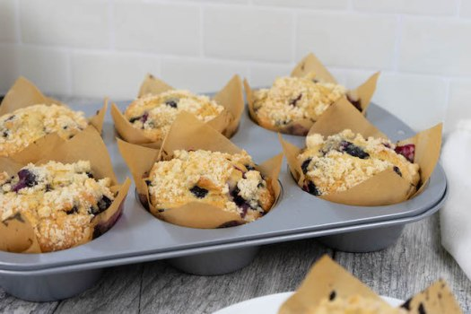 Jumbo Bakery Style Blueberry Muffins - The Vegan Rhino