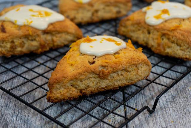 Breakfast Ginger Scones - The Vegan Rhino