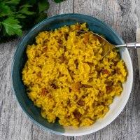 Golden Raisin Turmeric Rice