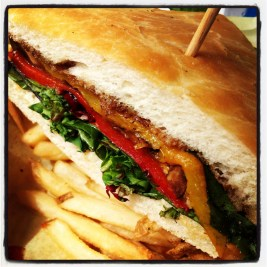 Veggie Sandwich from Fisherman's Restaurant on the San Clemente Pier