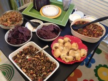 All of the food at the vegan potluck
