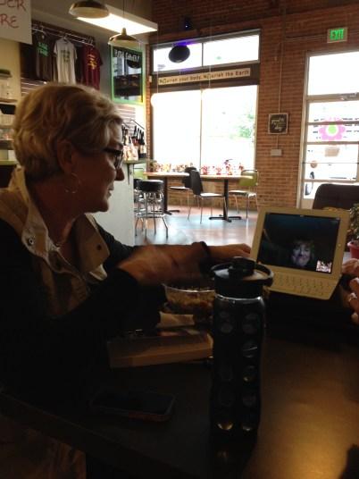 Robin Lamont on Skype for Vegan Book Club