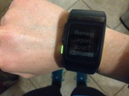 """My watch asked """"Running again soon?"""" on the day of the race. Oh, you have no idea!"""