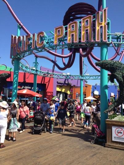 The Santa Monica Pier has an amusement park!