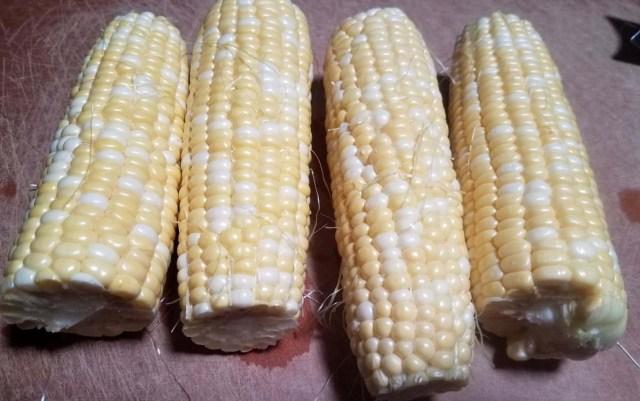 corn husked