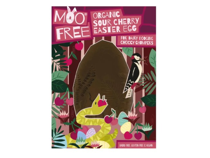 Moo Free Vegan Milk Chocolate Egg with Cherry Pieces