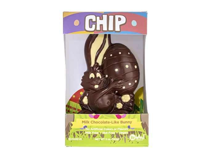 No Whey white and milk vegan hollow easter bunny.