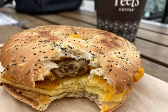 Vegan breakfast sandwich is now available at Peet's Coffee.