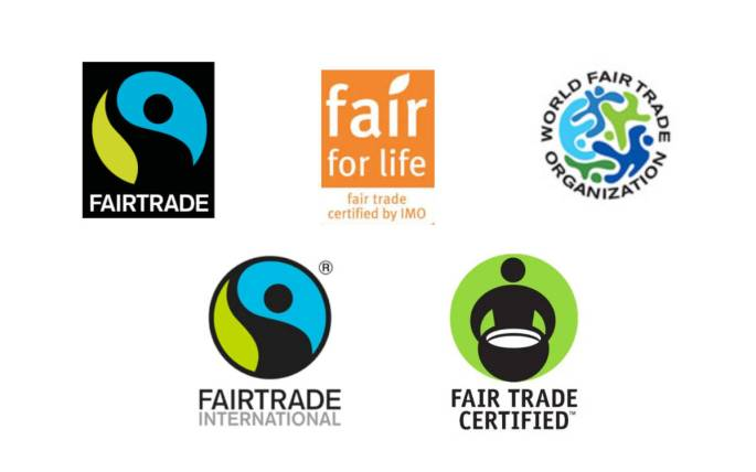 Five labels to look for when purchasing fair trade chocolate.