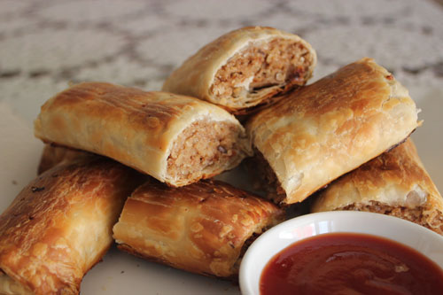 homemade vegetarian sausage rolls, taste just like the real thing only better!