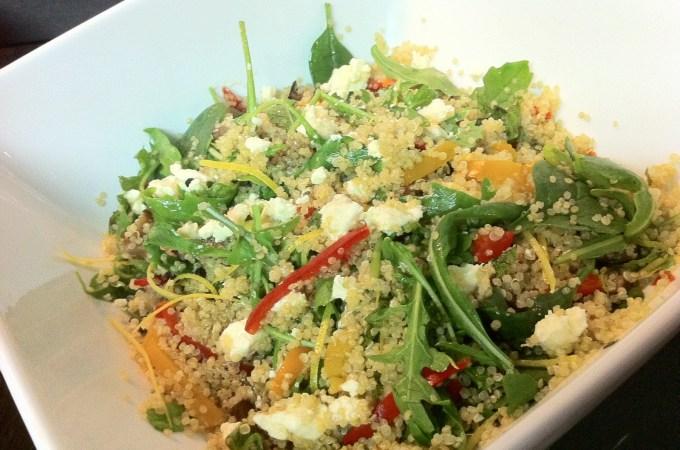 Quinoa, Antipasto and Goat's Cheese Salad