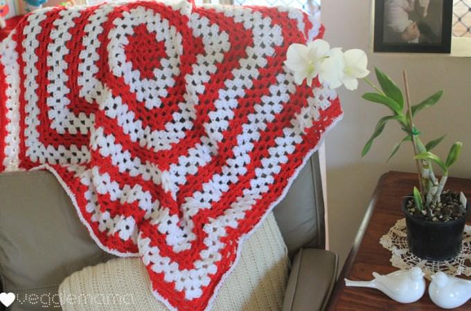 Giant granny square lap rug – easy peasy!