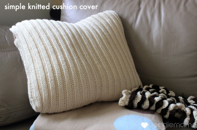 simple free knit cushion cover pattern
