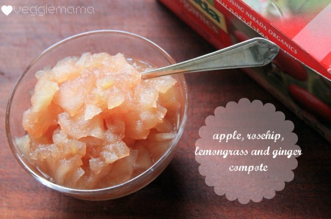 apple, rosehip, lemongrass and ginger compote recipe | Veggie mama