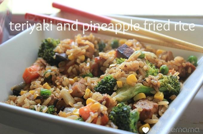 Teriyaki Pineapple Fried Rice | Veggie Mama