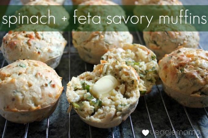 spinach + feta savoury muffins