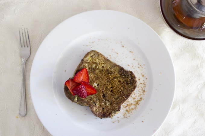 Banana french toast with vanilla and coconut sugar