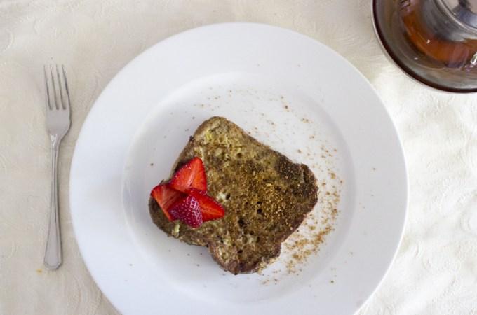 Banana french toast with vanilla and coconut sugar