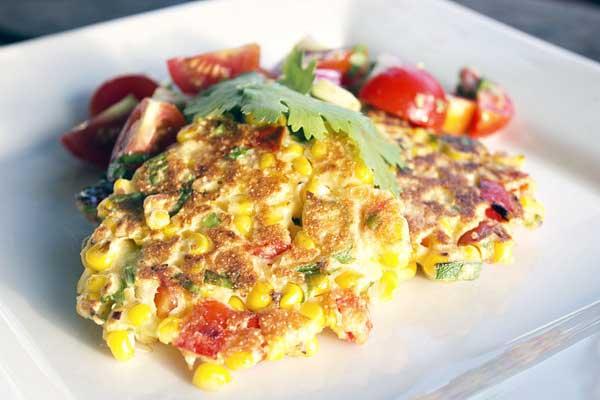 corn fritters with coriander | Veggie mama