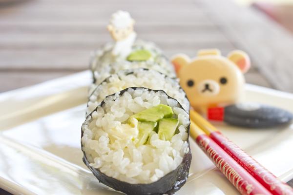 avocado sushi close